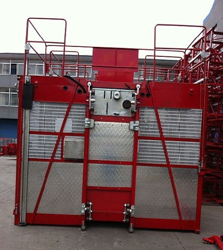 Personnel Construction Hoist Elevator / Construction Material Lifts