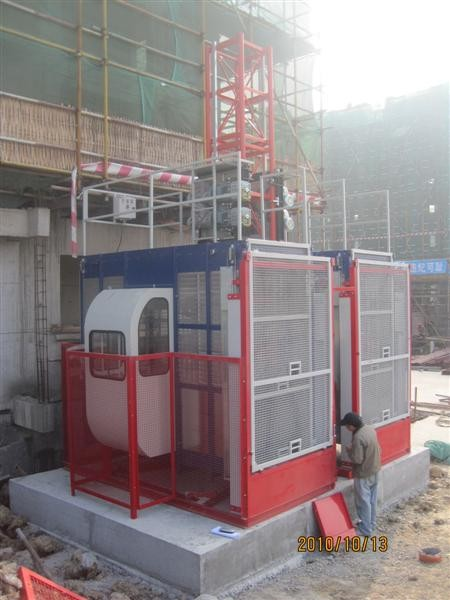 High Capacity Twin Cage Lifting High Speed for Construction