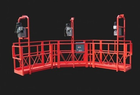 Red Arc Adjustable High Working Steel Rope Suspended Platform Cardle for Construction