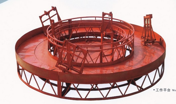 Rounded Lifting Suspended Access Platform with 1500kg Capacity