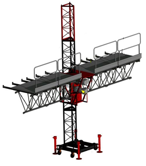 Aerial Single Lifting Mast Climbing Work Platform for Building Decoration 150m Height