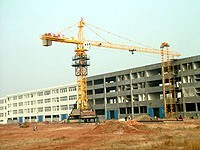 6ton Self Raised Potain Tower Crane with 50m Boom / Height Limiter and 5015 Stationary Attached